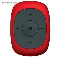 Плеер Flash Digma C2L, 4 Гб, FM, clip, красный