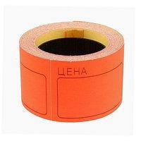 Набор из 6 роликов, в 1 ролике 120 штук, ценники самоклеящиеся, 35 х 50 мм, красные
