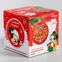 Шар для декорирования стразами 'С Новым годом' Микки Маус, цвет красный