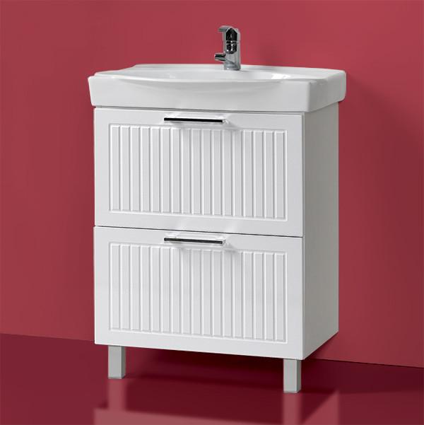 Комплект Тумба с умывальником для ванной «Акваль Санта» 65 см. (Умывальник Санти 65)