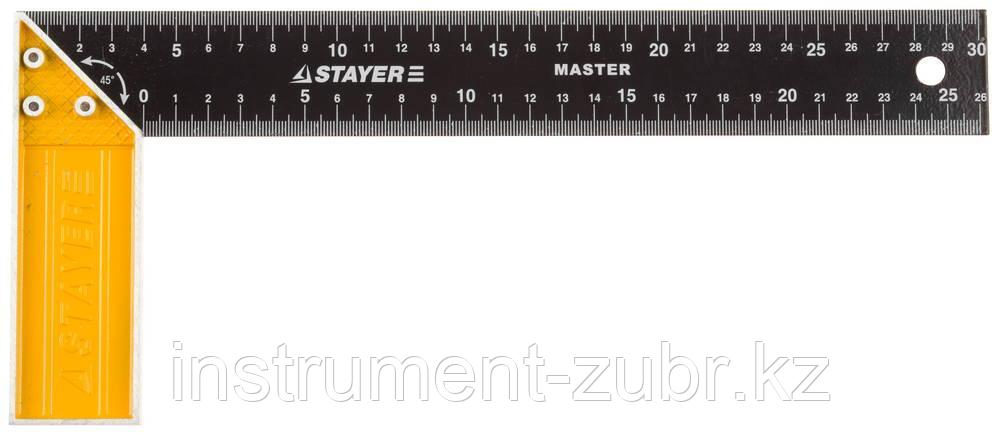 """Угольник STAYER """"MASTER"""" столярный, стальное полотно, 300мм"""