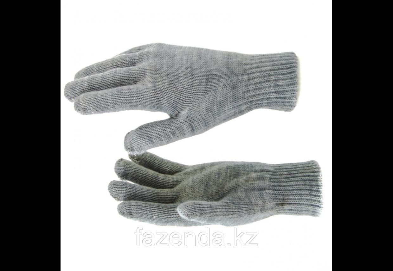 Перчатки трикотажные, акрил двойные