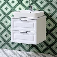 Комплект Тумба подвесная с умывальником для ванной «Акваль Наоми» 60 см. (Раковина Caspia 60 Square)