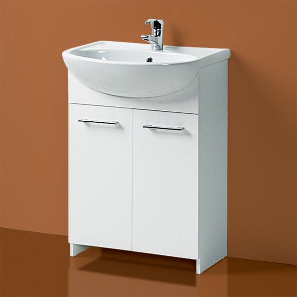 """Комплект Тумба с умывальником для ванной «Акваль Карина» 60 см. (Умывальник """"Уют 600"""")"""