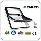 Пластиковое белое мансардное окно 78х118 PTP U3 FAKRO в комплекте с окладом для металлочерепицы, фото 2