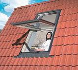 Пластиковое белое мансардное окно 78х118 PTP U3 FAKRO в комплекте с окладом для металлочерепицы, фото 8