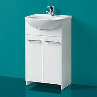 Комплект Тумба с умывальником для ванной «Акваль Карина» 50 см. (Умывальник «Люкс-Сити-Т-Л (50)»)