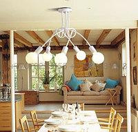 Люстра в стиле Loft белая на 5 лампочек