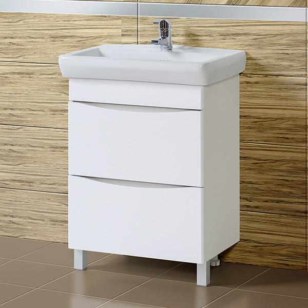Тумба для ванной «Акваль Верна» 65 см. с умывальником Санти 65