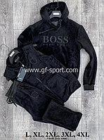 Велюровый зимний костюм мужской Hugo Boss