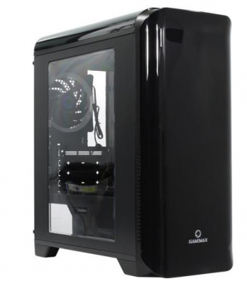 Корпус ПК без БП GameMax H602BK Explorer Black, Mini Tower/ ATX