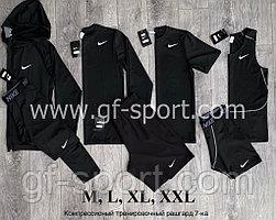 Рашгард (компрессионное белье) Nike 7 в 1, черный