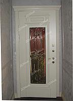 Двери стальные со стеклом