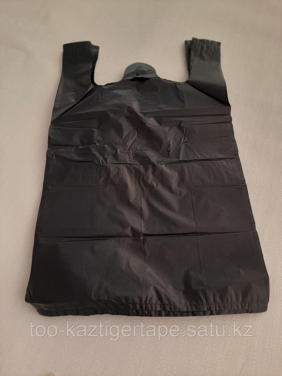 Пакеты в рулоне с ручкой, черный
