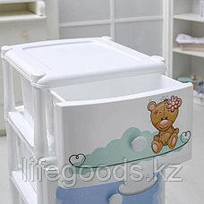 """Детский комод """"Медвежата"""" 4-х секционный пластиковый, М1701, фото 2"""