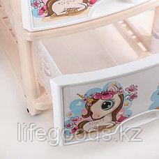 Детский комод для девочек 4-х секционный пластиковый, М1240, фото 2