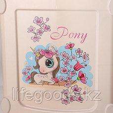 Детский комод для девочек 4-х секционный пластиковый, М1240, фото 3