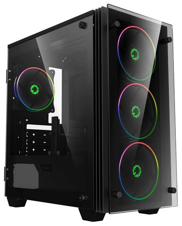 Корпус ПК без БП GameMax Mini Stratos H609 (MATX, 4х120, 411,5х193х415mm)