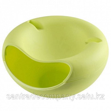 Двойная тарелка для семечек и подставка для телефона(зеленый)