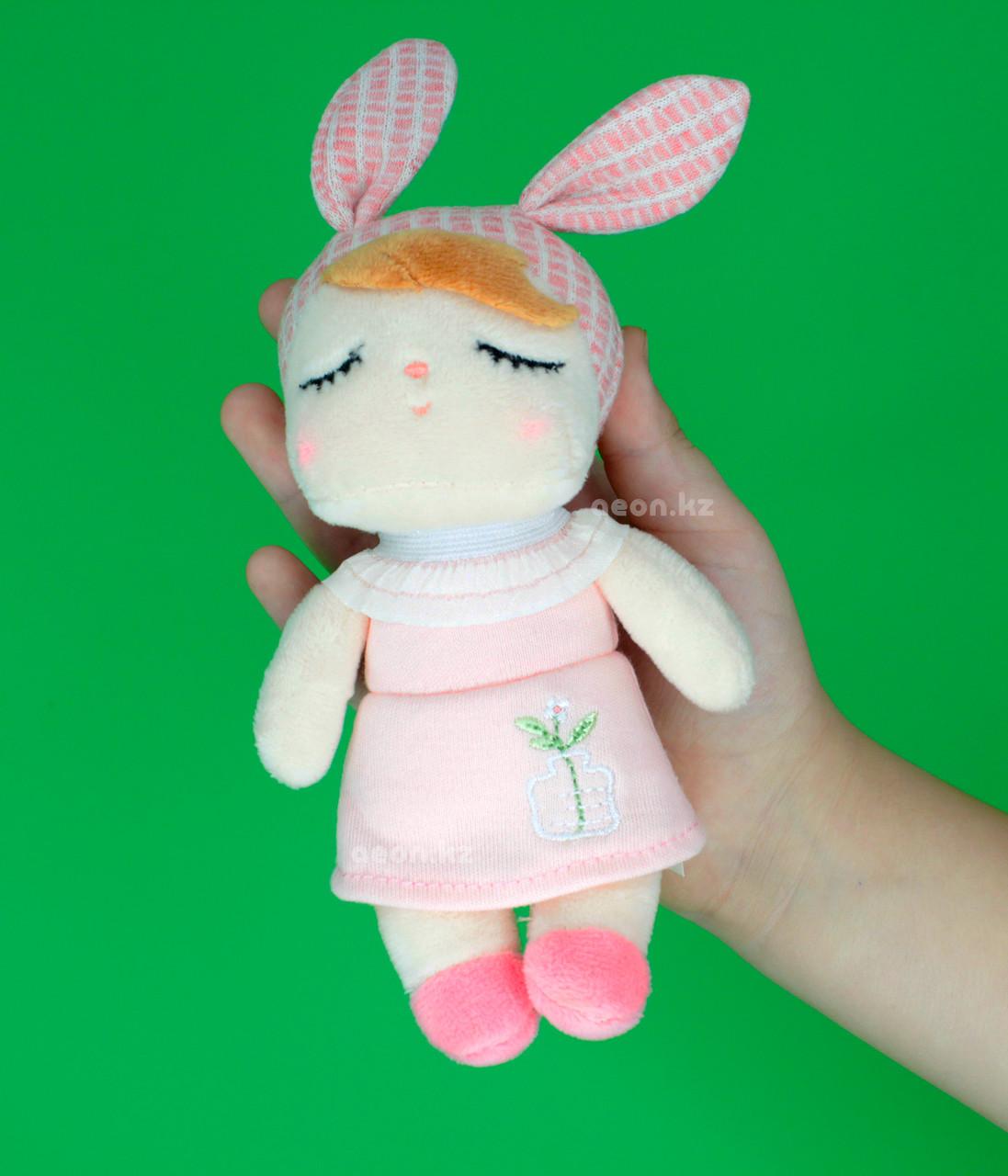 """Кукла-сплюшка мини """"Платье розовое цветочек"""""""
