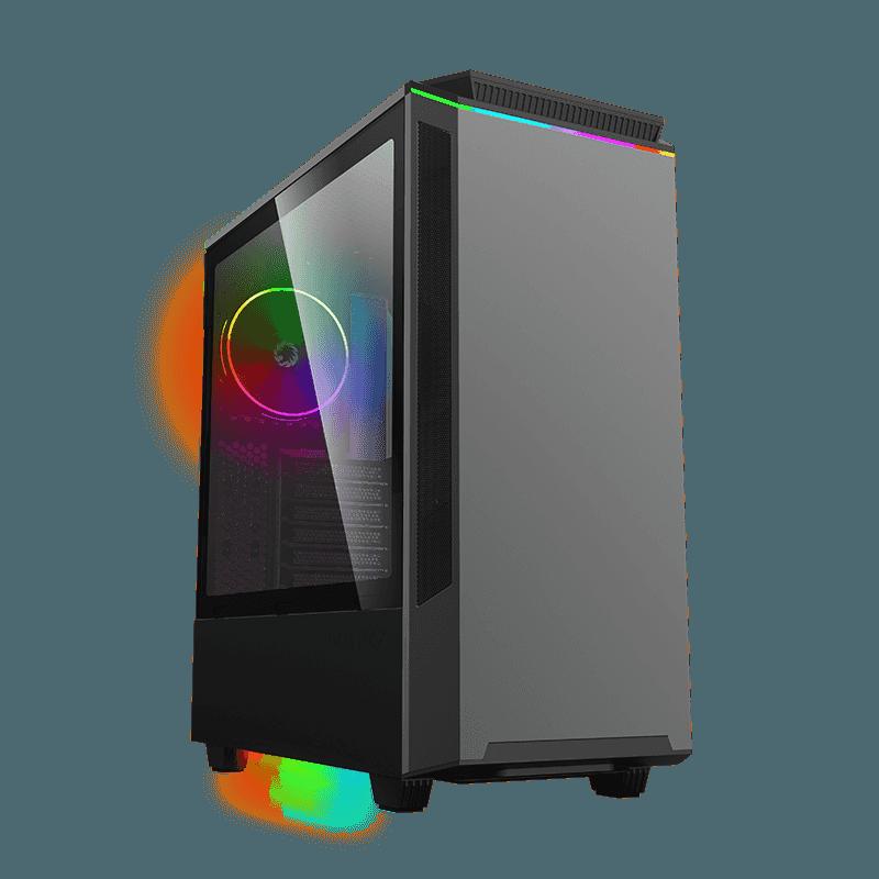 Корпус ПК без БП GameMax Paladin T801 (Midi-Tower, window, tempered glass, RGB)