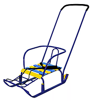 Санки со спинкой и колесами (3КР)