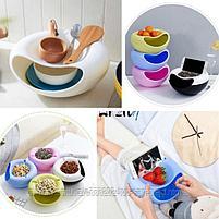 Двойная тарелка для семечек и подставка для телефона(зеленый), фото 5