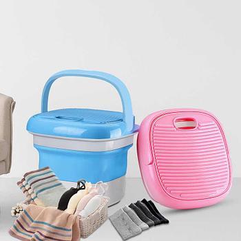 Портативная ультразвуковая мини-стиральная машина, СКЛАДНОЙ КОВШ, тип USB
