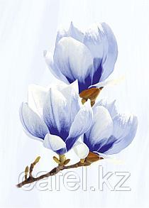 Кафель | Плитка настенная 25х35 Агата | Agata голубой декор D