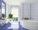 Кафель | Плитка настенная 25х35 Агата | Agata голубой декор D1, фото 2