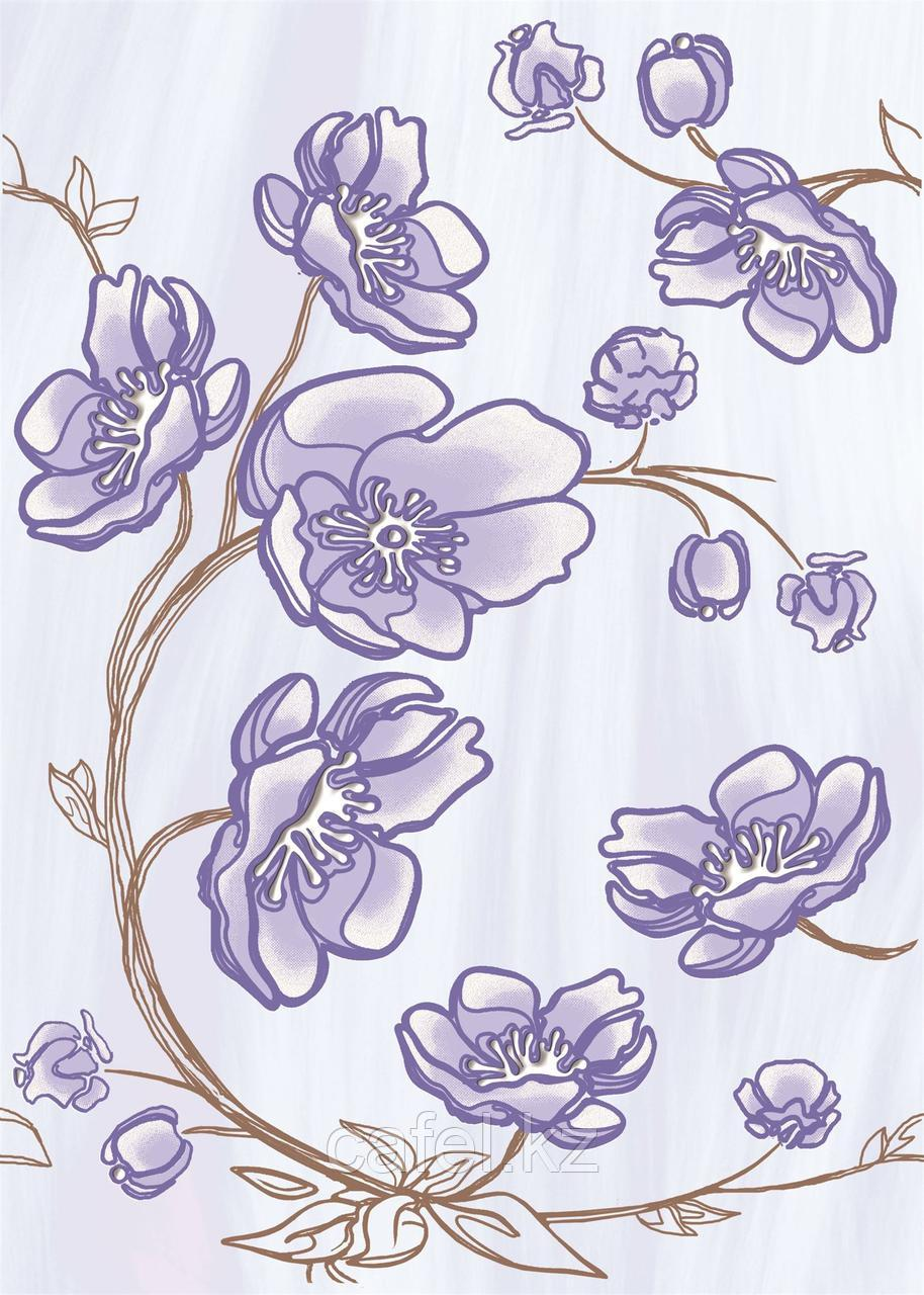 Кафель | Плитка настенная 25х35 Агата | Agata голубой декор D1