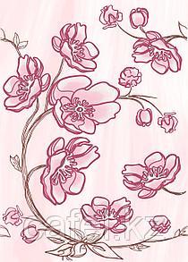 Кафель | Плитка настенная 25х35 Агата | Agata розовый декор D1