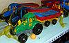Инерционная машина, грузовик,  трактор с прицепом,  пластмассовая.
