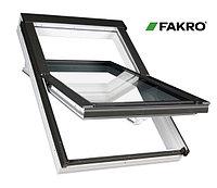 Пластиковые мансардные окна белые FAKRO PTP U3 78*118 (в комплектес окладом на металлочерепицу, профлист)
