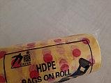 Пакеты в рулоне с ручкой, желто-красный, фото 2