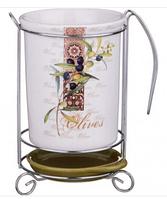 Подставка под кухонные приборы оливки 10,5х16 см
