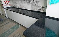 Столешница акриловый камень черная на кухню