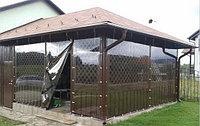 Прозрачные шторы для беседки