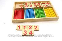 Деревянные счетные палочки и цифры, фото 2