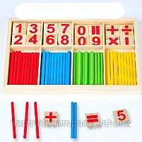Деревянные счетные палочки и цифры, фото 3