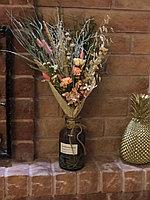 Букет из сухоцветов, ассортимент растений и цветов, высота 40-45 см