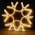 Светодиодная LED снежинка 40 см, фото 2