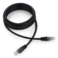 Патч-корд UTP Cablexpert PP12-3M/BK 5e, 3м, литой, многожильный (чёрный)