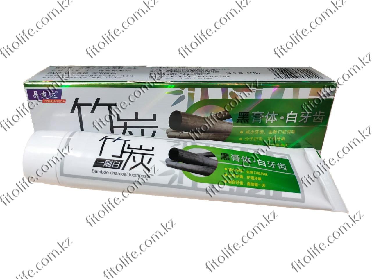 Зубная паста на основе бамбукового древесного угля с мятой