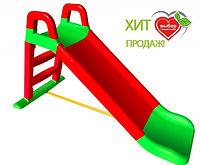 Горка детская Doloni 0140 красный/зеленый