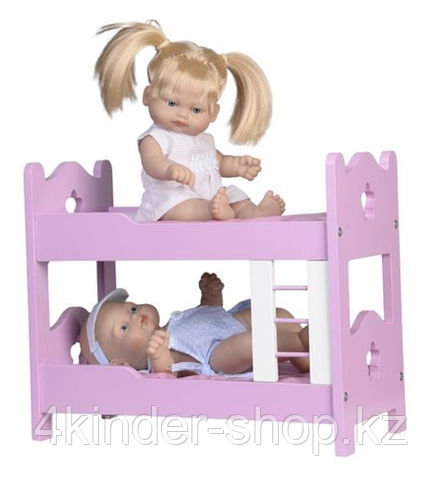 2 куклы (28 см) с 2-ярусной кроватью