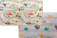 "Детский коврик Pure Soft ""Дороги/Киты"", 190x130x1.2 см"