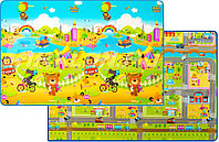 """Детский коврик Prime Living """"Мишка на каникулах/Дороги"""", 200x180x1.0 см"""