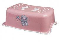 MALTEX Подставка под ноги Медвежонок Розовый/белая резинка