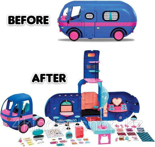 Новый синий Автобус ЛОЛ LOL Surprise OMG Remix 4-в1 Glamper - фото 4